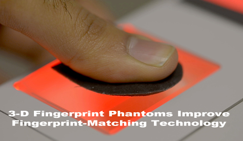 3-D FINGERPRINT PHANTOMS IMPROVE FINGERPRINT-MATCHING TECHNOLOGY